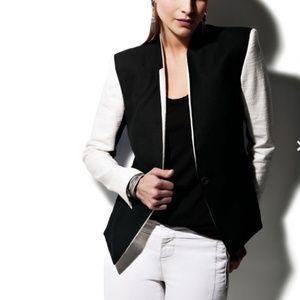Helmut Lang black and white intermix blazer